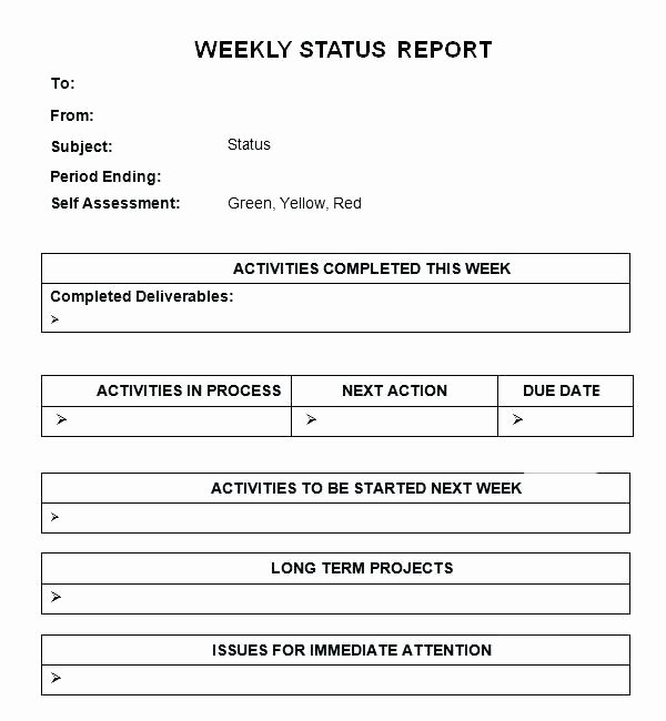Status Update Email Template Best Of Status Update Email Template 8 Weekly Status Report