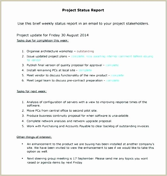 Status Update Email Template Inspirational Weekly Update Email Template Best Meeting Minutes