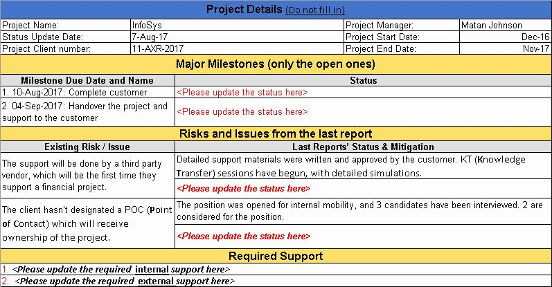 Status Update Email Template Luxury Project Status Update Email Sample Templates and