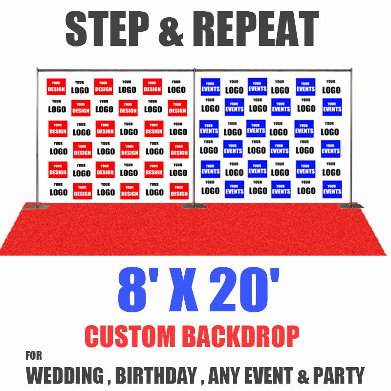 Step and Repeat Template Best Of 8x20 Step and Repeat Banner eventbackdropbanner