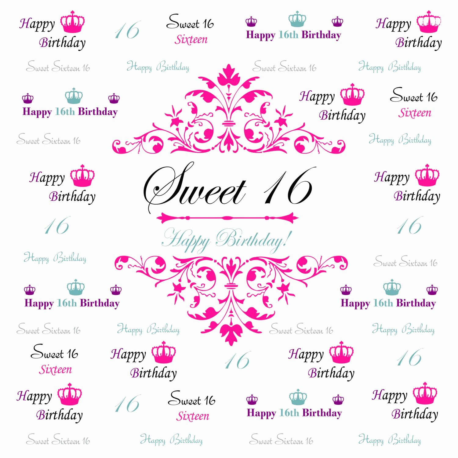 Step and Repeat Template Best Of Sweet 16 Backdrop event Step and Repeat Backdrop Birthday