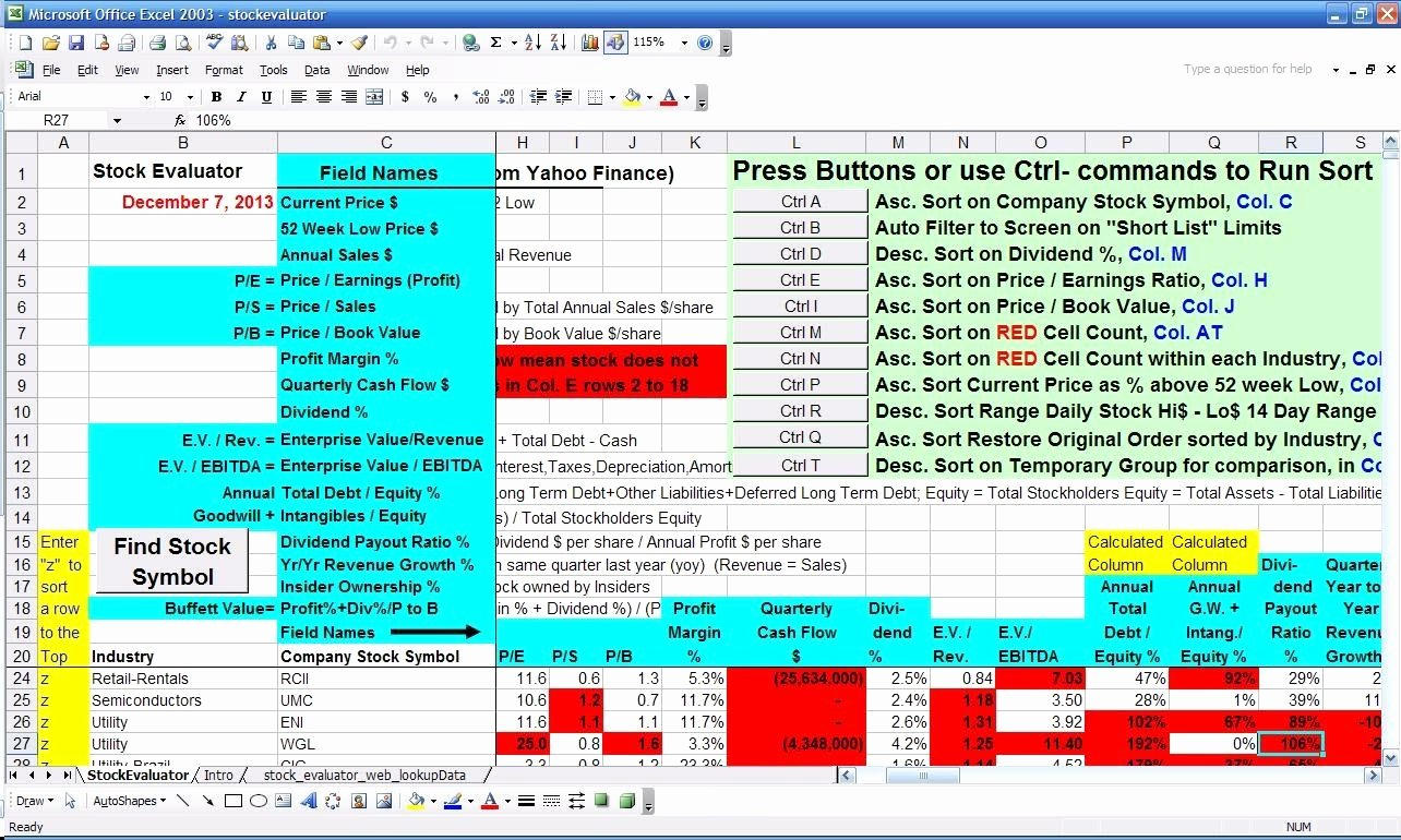Stock Analysis Excel Template Elegant Stock Analysis Template Excel 2016