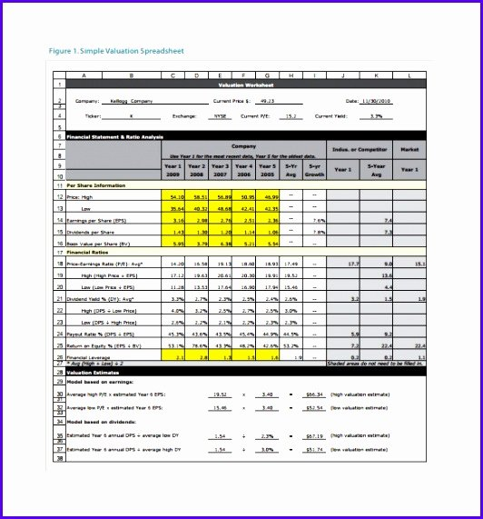Stock Analysis Excel Template Unique Example Stock Analysis Excel Template Efflc Beautiful 8