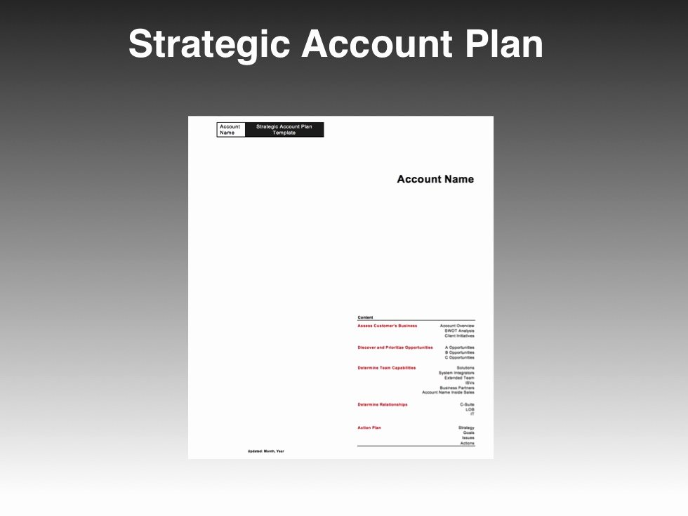 Strategic Account Planning Template Awesome Strategic Account Plan Template Four Quadrant Go to