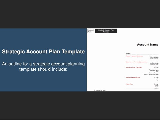 Strategic Account Planning Template New Go to Market Strategy Strategic Account Plan Template