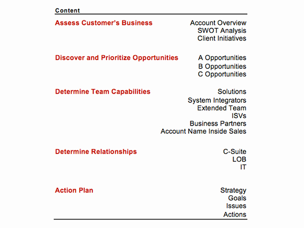 Strategic Account Planning Template Unique Strategic Account Plan Template