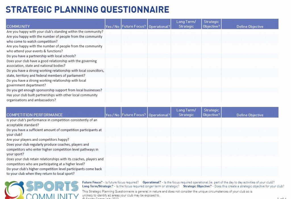 Strategic Business Plan Template Fresh Strategic Planning