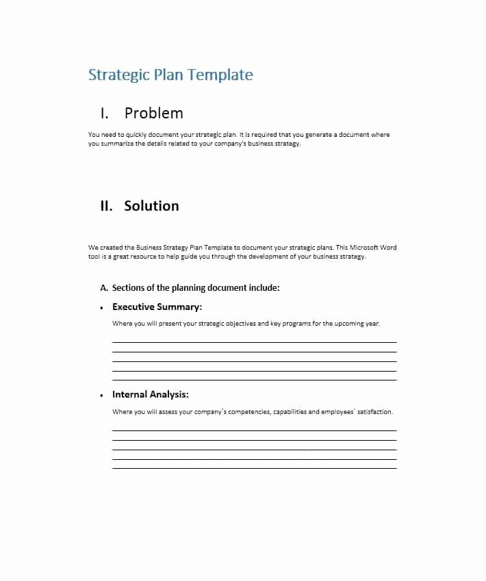 Strategic Business Plan Template Inspirational 32 Great Strategic Plan Templates to Grow Your Business