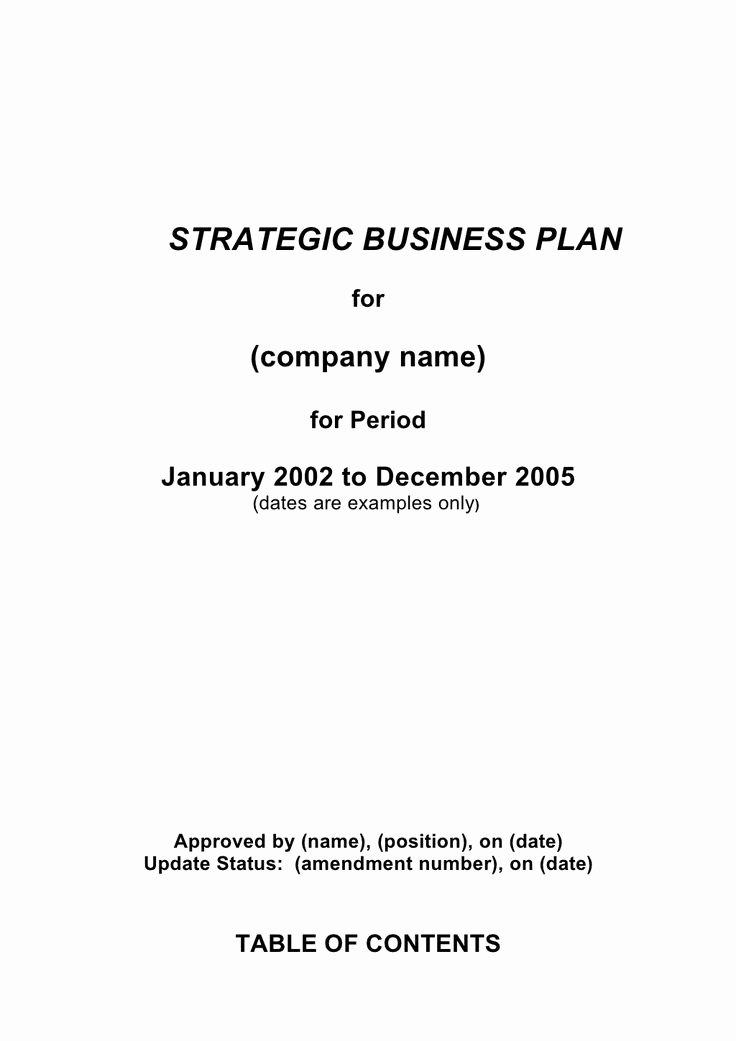 Strategic Business Plan Template Unique 1000 Ideas About Business Plan Template On Pinterest