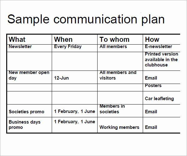 Strategic Communication Plan Template Best Of 11 Samples Of Munication Plan Templates