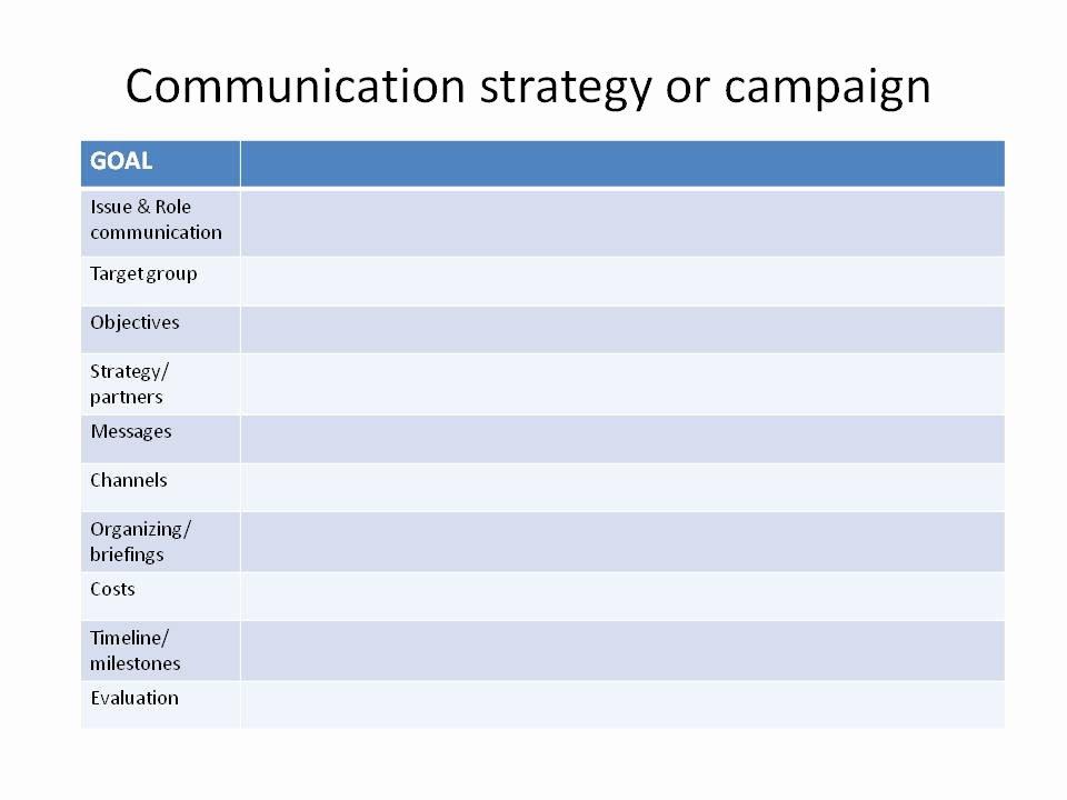 Strategic Communication Plan Template Best Of the Art Of Positive Change Munication Planning Templates
