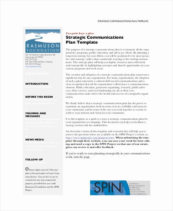 Strategic Communication Plan Template Elegant Strategic Planning Template 13 Free Pdf Word Documents