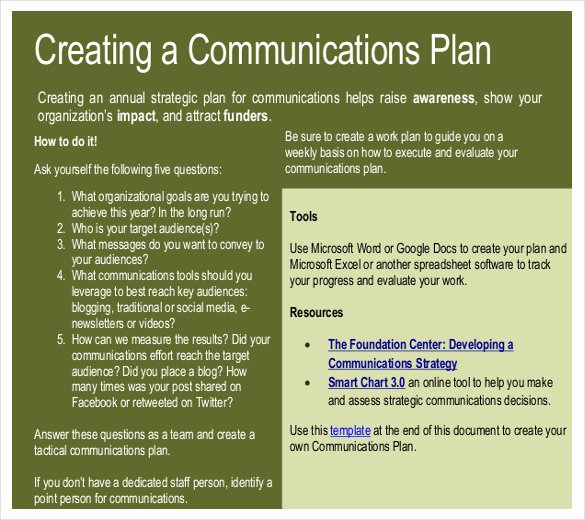 Strategic Communication Plan Template Fresh 11 Munication Strategy Templates – Free Sample