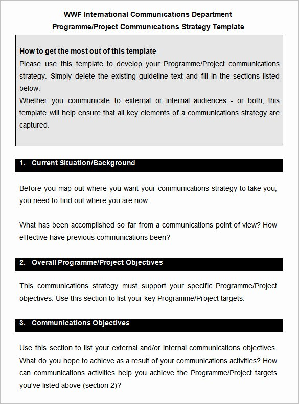 Strategic Communication Plan Template Lovely 10 Munication Strategy Templates Free Word Pdf