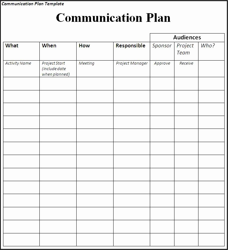 Strategic Communication Plan Template Lovely Munications Plan Template