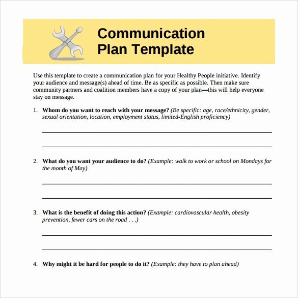 Strategic Communication Plan Template Luxury Strategic Munication Plan Template Bing Images
