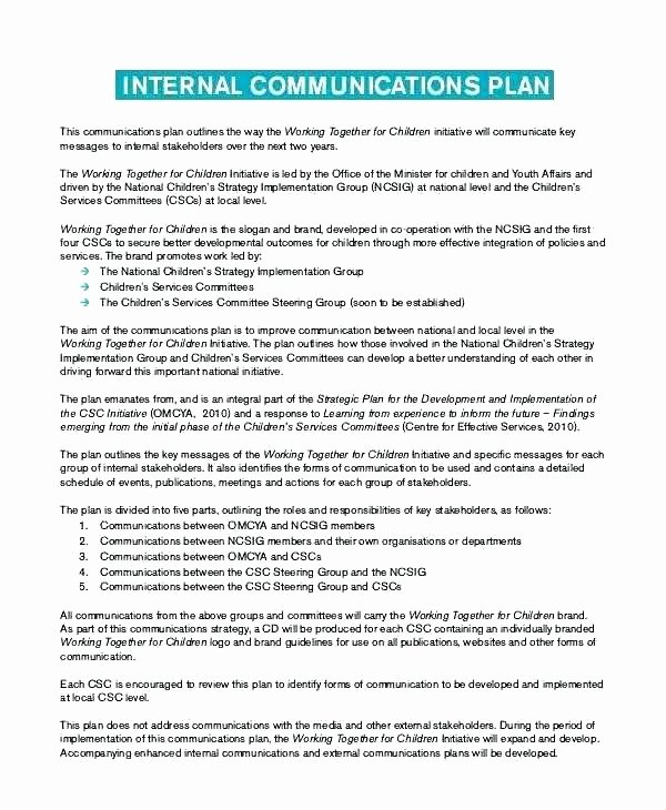 Strategic Communication Plan Template New Strategic Munications Plan Template Lovely Client