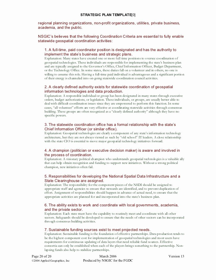 Strategic Planning for Nonprofits Template Awesome 25 Strategic Plan Template