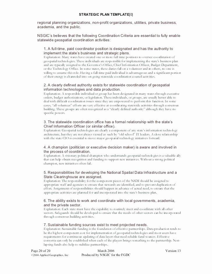 Strategic Planning for Nonprofits Template Inspirational Non Profit Plan Template Strategic Planning Nonprofit