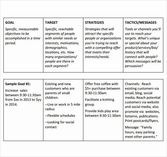 Strategic Sales Plan Template Elegant Sales Plan Templates