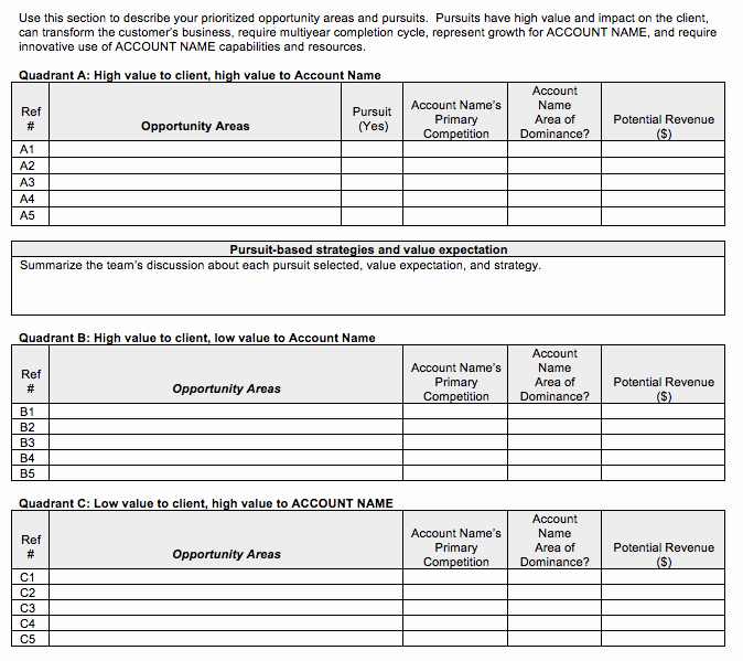 Strategic Sales Plan Template Inspirational Go to Market Strategy Strategic Account Plan Template