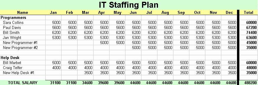 Strategic Staffing Plan Template Beautiful It Staffing Plan