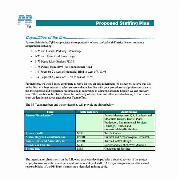 Strategic Staffing Plan Template Fresh 12 Staffing Plan Templates – Free Sample Example format