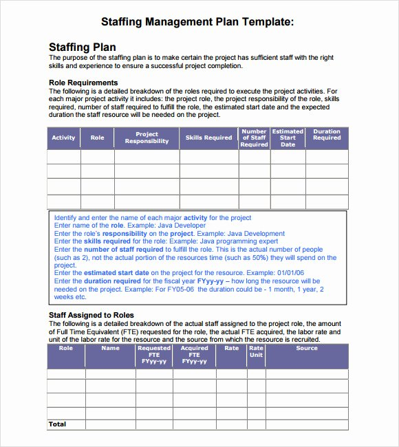Strategic Staffing Plan Template Luxury 7 Staffing Model Samples