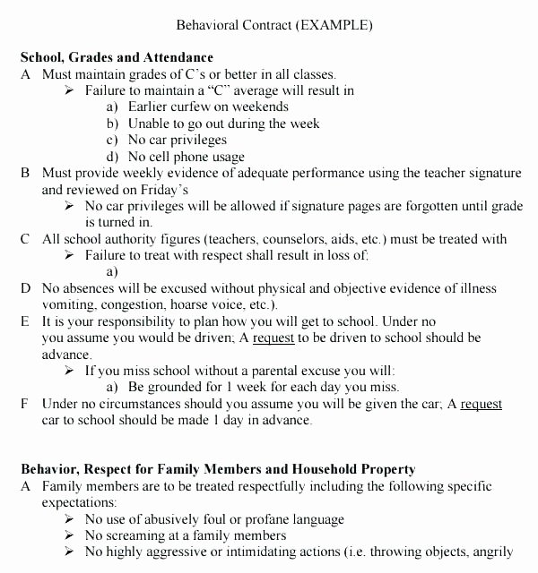 Student Academic Contract Template Best Of Student Academic Contract Template Internship form Unpaid