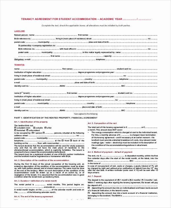 Student Academic Contract Template Fresh 11 Student Agreement Contract Samples