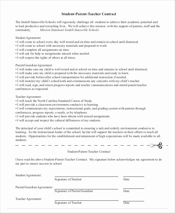 student agreement contract