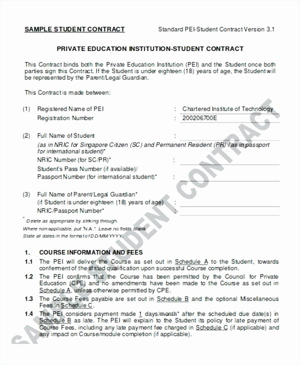 Student Academic Contract Template Lovely Template Literals Student Passport – Tatilvillam