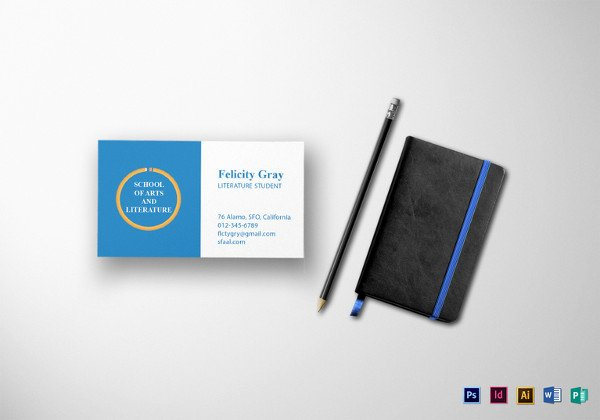 Student Business Card Template Awesome Business Cards for Teachers 51 Free Psd format Download