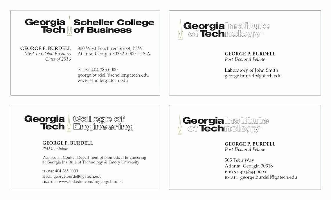 Student Business Card Template Best Of Virginia Tech Graduate School Luxury Petitive but