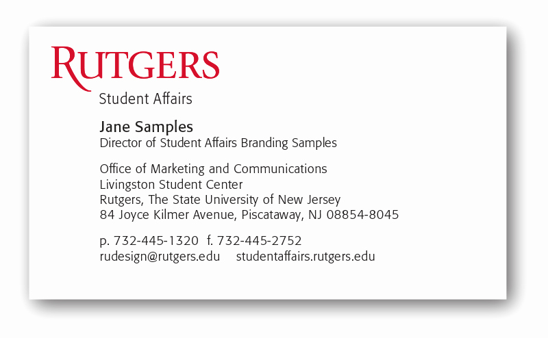 Student Business Card Template Fresh Stationery – Student Affairs Branding Guide