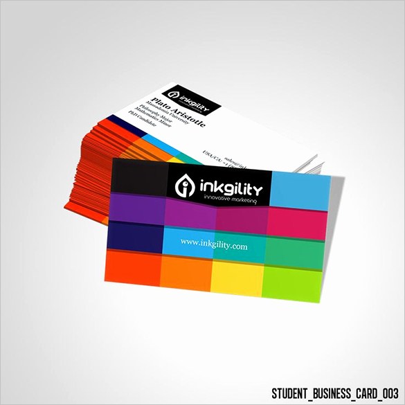 Student Business Card Template New 18 Student Business Cards Free Printable Psd Eps Word