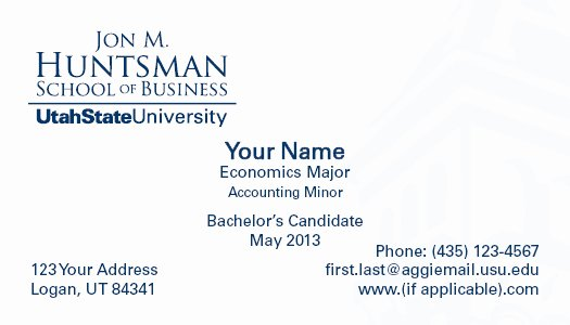 Student Business Cards Template Awesome Accounting Student Business Card Accounting Student