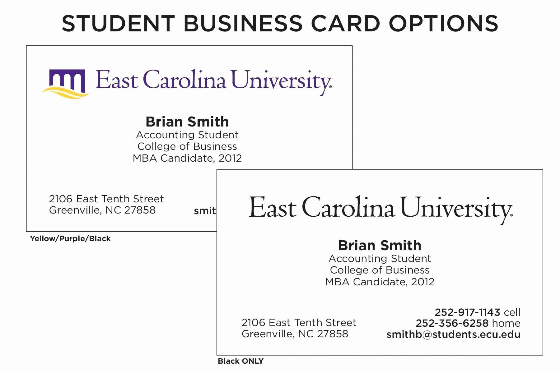 Student Business Cards Template Awesome Student Business Cards Inspirational Student Business Card