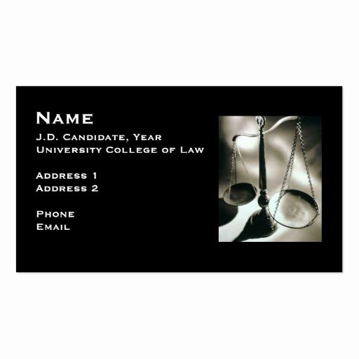 Student Business Cards Template Best Of Law Student Business Card 3