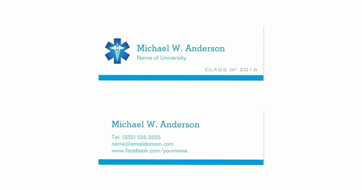 Student Business Cards Template Fresh Graduation Name Card Template Full Size Cards as Well