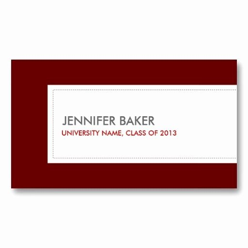 business cards for college and university students