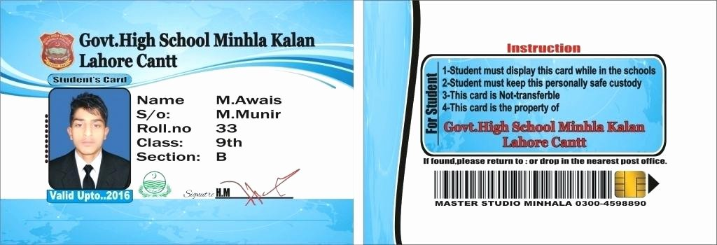 Student Business Cards Template Unique Nice Student Id Card Template Unique Id Card