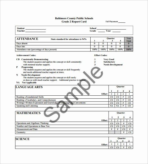 Student Report Card Template Beautiful 26 Progress Report Card Templates Google Doc Pdf Psd