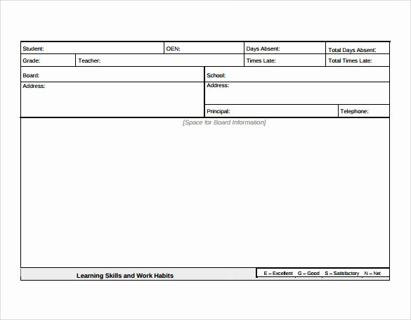 Student Report Card Template Best Of 12 Progress Report Card Templates to Free Download