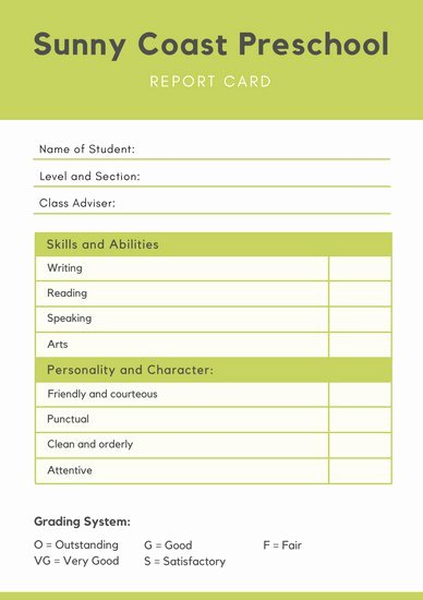 Student Report Card Template Elegant Customize 10 016 Report Card Templates Online Canva