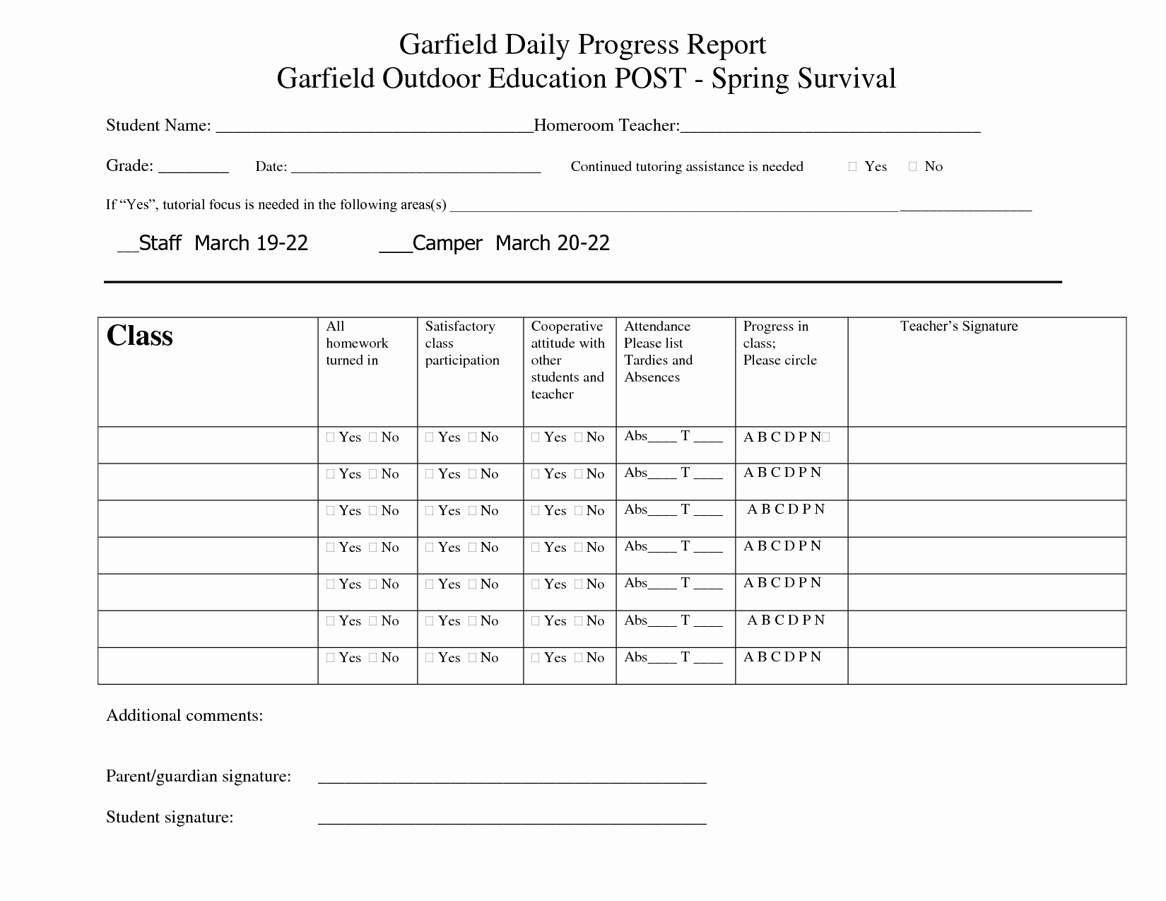 Student Report Card Template Elegant Printable Student Progress Report Template