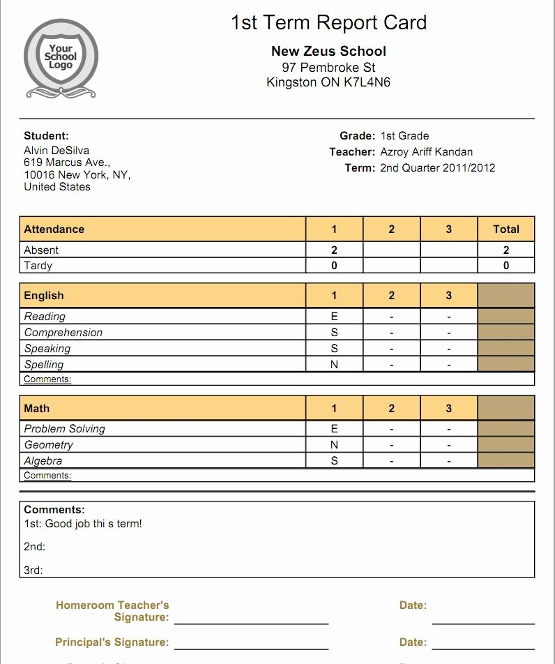 Student Report Card Template Elegant What is the Relationship Between Gradebooks and Report