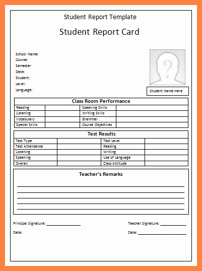 Student Report Card Template Lovely 7 Progress Reports for Students Template