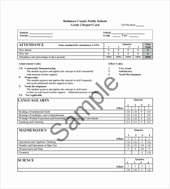 Student Report Card Template Luxury Students Progress Report Template Student Functional