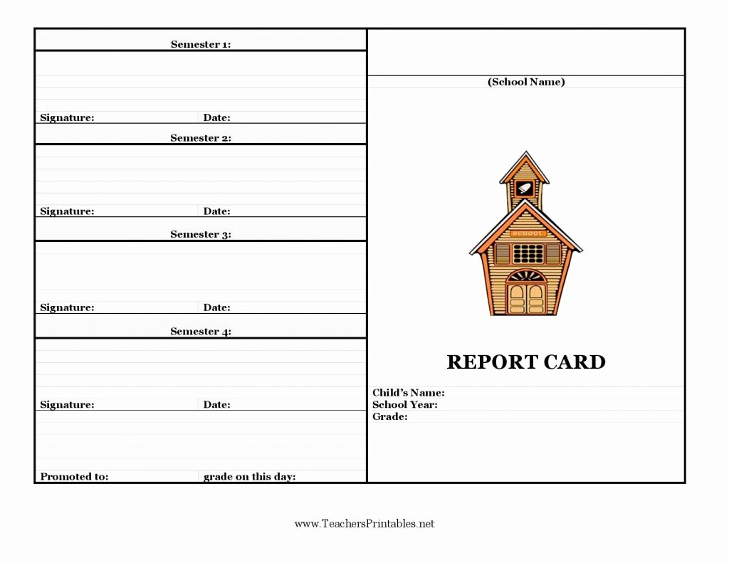 Student Report Card Template Unique Report Card Template 33 Free Word Excel Documents